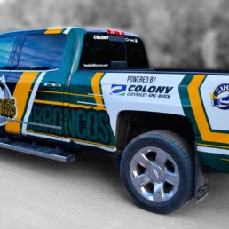 Humboldt Broncos Truck Vehicle Vinyl Wrap