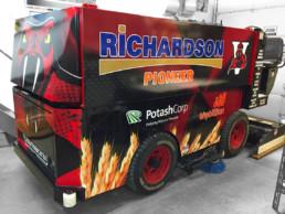 Printing Service Decals Full Vehicle Wrap on Zamboni