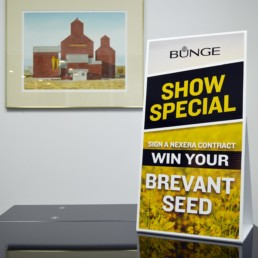 Bunge Coroplast Display Sign for Exhibits and Trade Shows