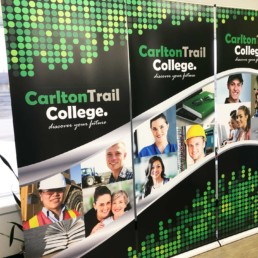 Carlton Trail College Retractable Banner Set