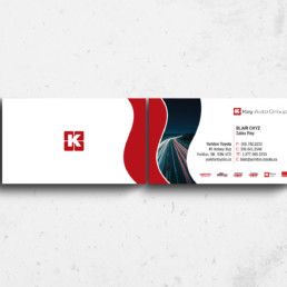 Key Auto Group Business Card Design