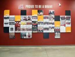 LeRoy Braves Full Wall Display
