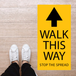 "Directional ""Walk This Way"" Floor Graphics"
