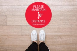 Please Maintain 6ft Distance Floor Graphic