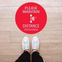 Please Maintain 6ft Distance Floor Graphic