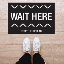 Wait Here Rectangle Floor Graphic