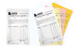 Custom printed forms and receipts